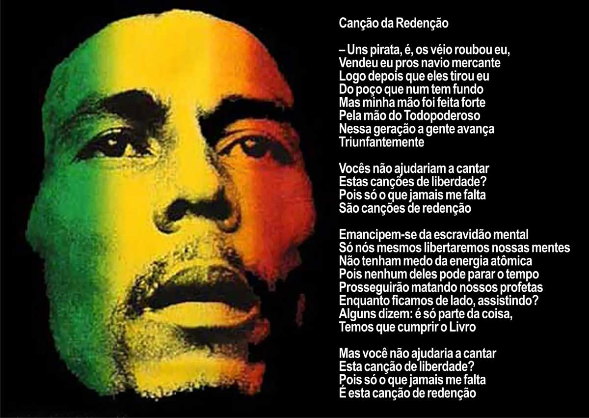 metaphor in lyric bob marley When bob marley died, on may 11, 1981, at the age of thirty-six, he did  the  metaphorical site of oppression and western materialism that  his lyrics lent  themselves to a kind of universalist reading of exodus and liberation.